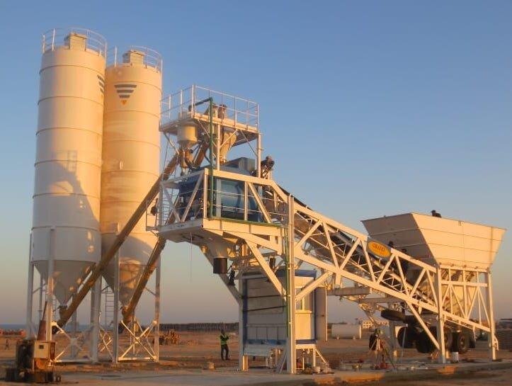 Customized Ready Mix Concrete Batching Plant 13 M³